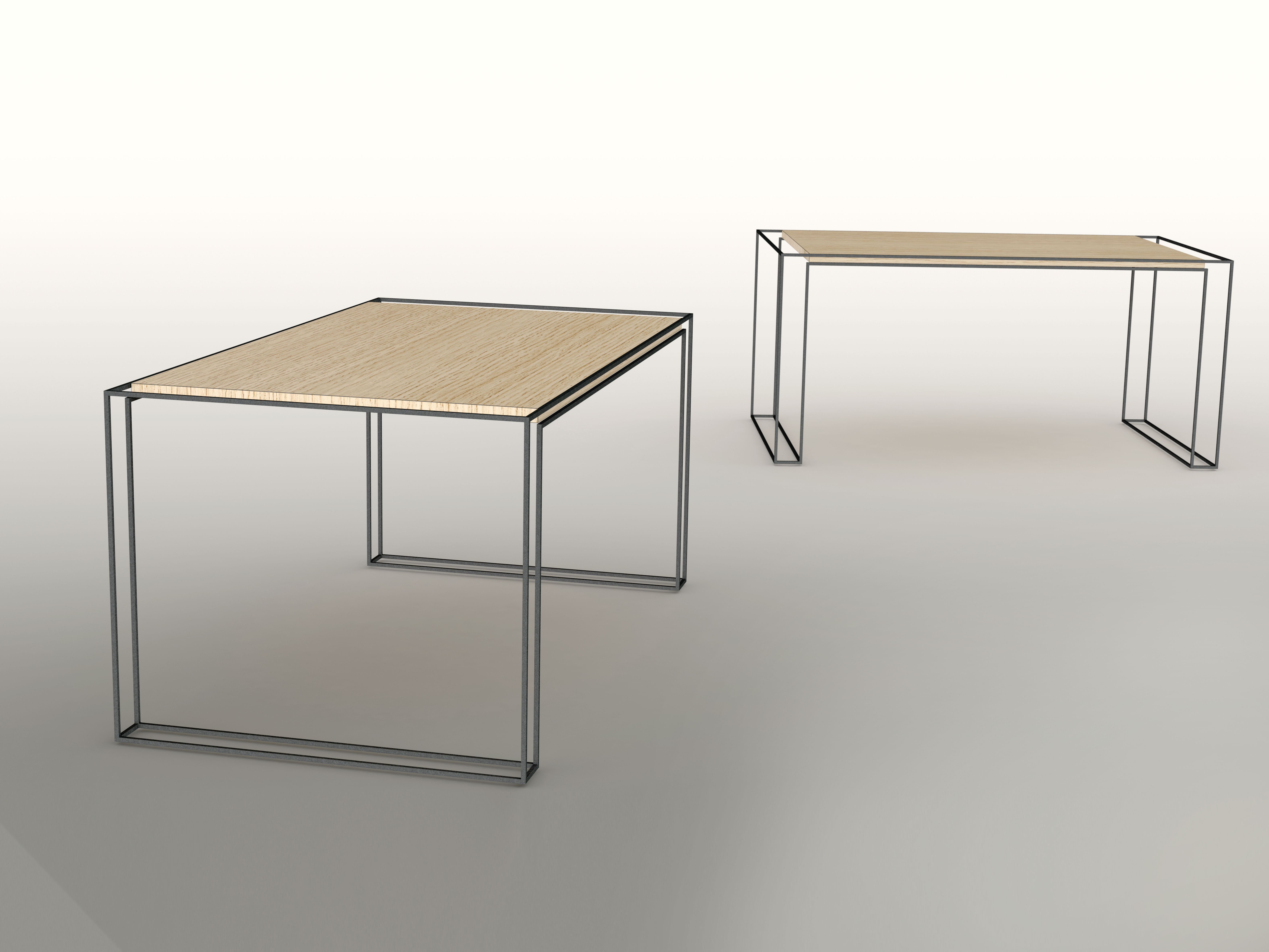 Gallerij Interior Wire Harness Tables Handmade Oak Table Surrounded By A Stainless Steel Measurements 160 X 90
